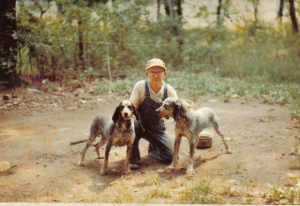 Papa & his coon dogs