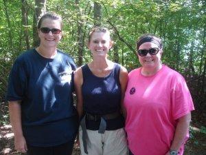 Emily Armistead, Cindy Haislip and me!  Tribble Mill Park, August 8th, 2009 - 9 Miles!